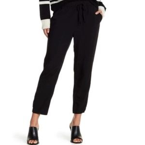 Madewell Black Drawstring Track Cropped Pants
